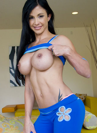 Busty Mom Shows Her Six Pack!